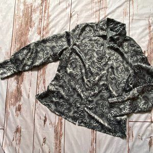 East 5th Paisley button front shirt-gray-sz 14